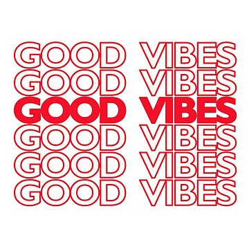 GOOD VIBES ! Thank You plastic Bag by VelcroFathoms
