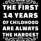 14th Birthday Shirt | 14 Years Old | First 14 Years Funny Tee by wantneedlove