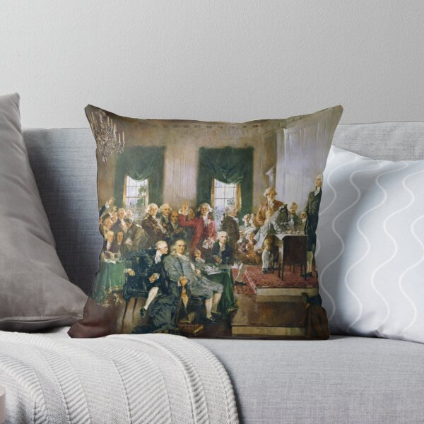 The Signing of the Constitution of the United States - Howard Chandler Christy  Throw Pillow