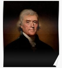 Official Presidential portrait of Thomas Jefferson Poster