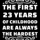 23rd Birthday Shirt | 23 Years Old | First 23 Years Funny Tee by wantneedlove
