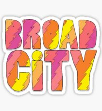 Broad City Pink Orange Logo Sticker