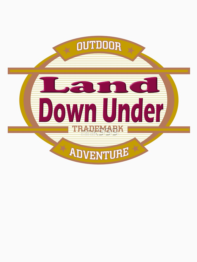 Land Down Under tee-shirt and stickers by nhk999
