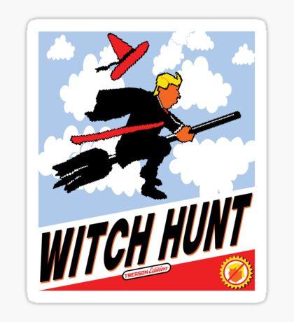 Witch Hunt Trump Treason Edition T-shirts Sticker