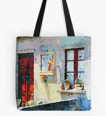 Catanzaro: door, saintly edicule and window Tote Bag