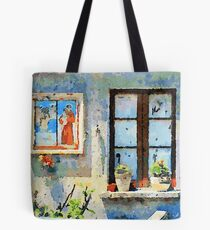 Catanzaro: saintly edicule and window Tote Bag