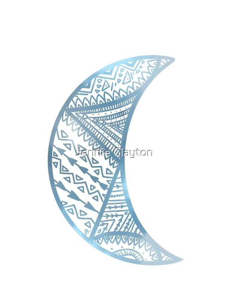 mandala luna azul de jennieclayton