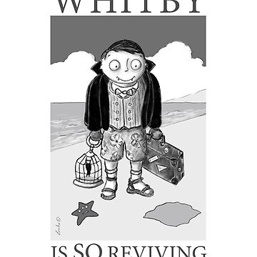 Vampire Dracula Travels To Whitby Beach For Halloween by brodyquixote