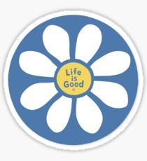 Das Leben ist gut Blue Daisy Sticker