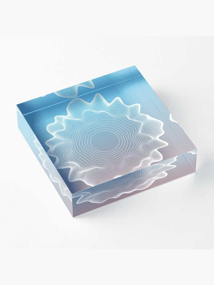 Alternate view of Concentric circles Acrylic Block