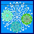 Stained Glass Snow Flakes (2018) by TheGreenPoodle