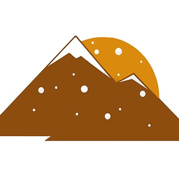 snowfall mountain graphic  by BCartwork