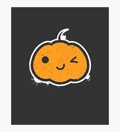 Cool Halloween Pumpkin Photographic Print