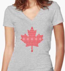 pysankanada Women's Fitted V-Neck T-Shirt