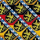 Bavarian Lions with Blue and white lozenges pattern of Bavaria  by edsimoneit