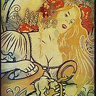 Vintage Oktoberfest Waitress by edsimoneit