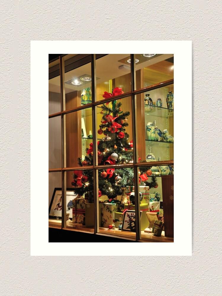 Alternate view of Christmas window Art Print