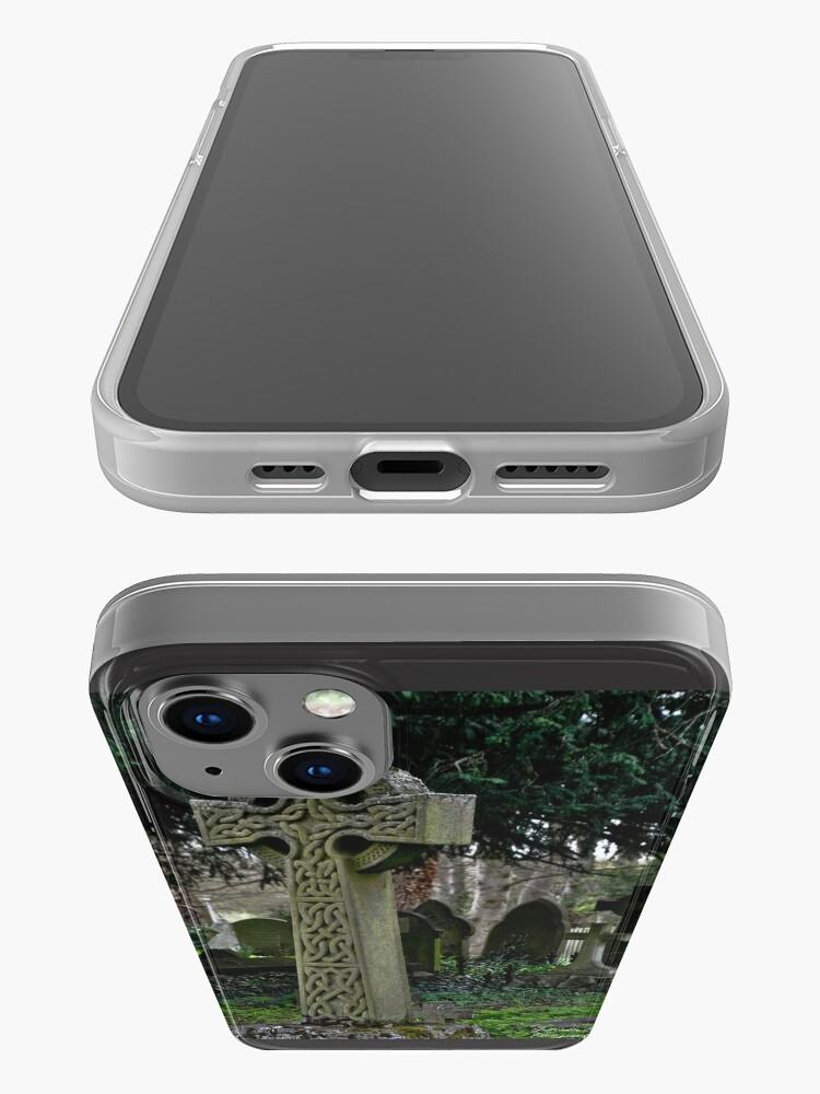 Alternate view of Celtic cross iPhone Case