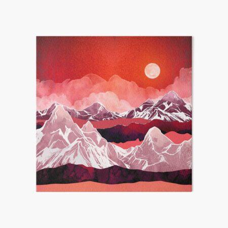 Scarlet Glow Art Board Print
