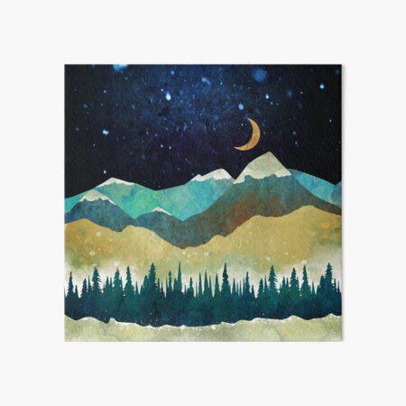 Snowy Night Art Board Print