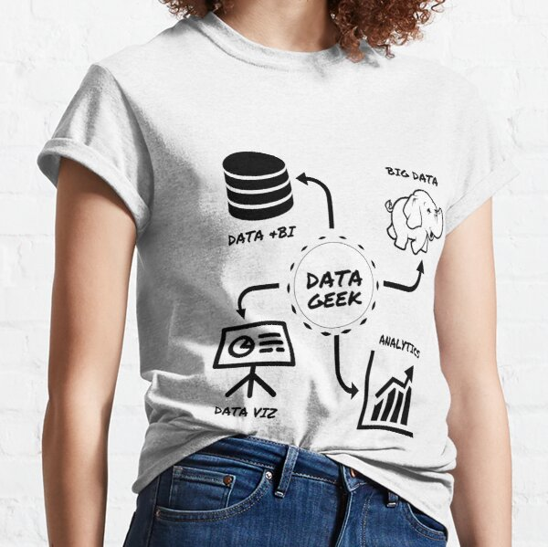 Data Geek awesome shirt, hoodie and accessories for Data Analysts, Scientists, BI, STEM, Engineers Classic T-Shirt