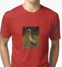 Chippewa Flowage Great Blue Heron Tri-blend T-Shirt