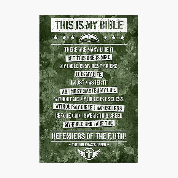 THIS IS MY BIBLE Photographic Print