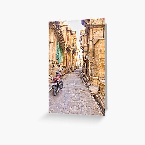 Jaisalmer Fort Street Greeting Card
