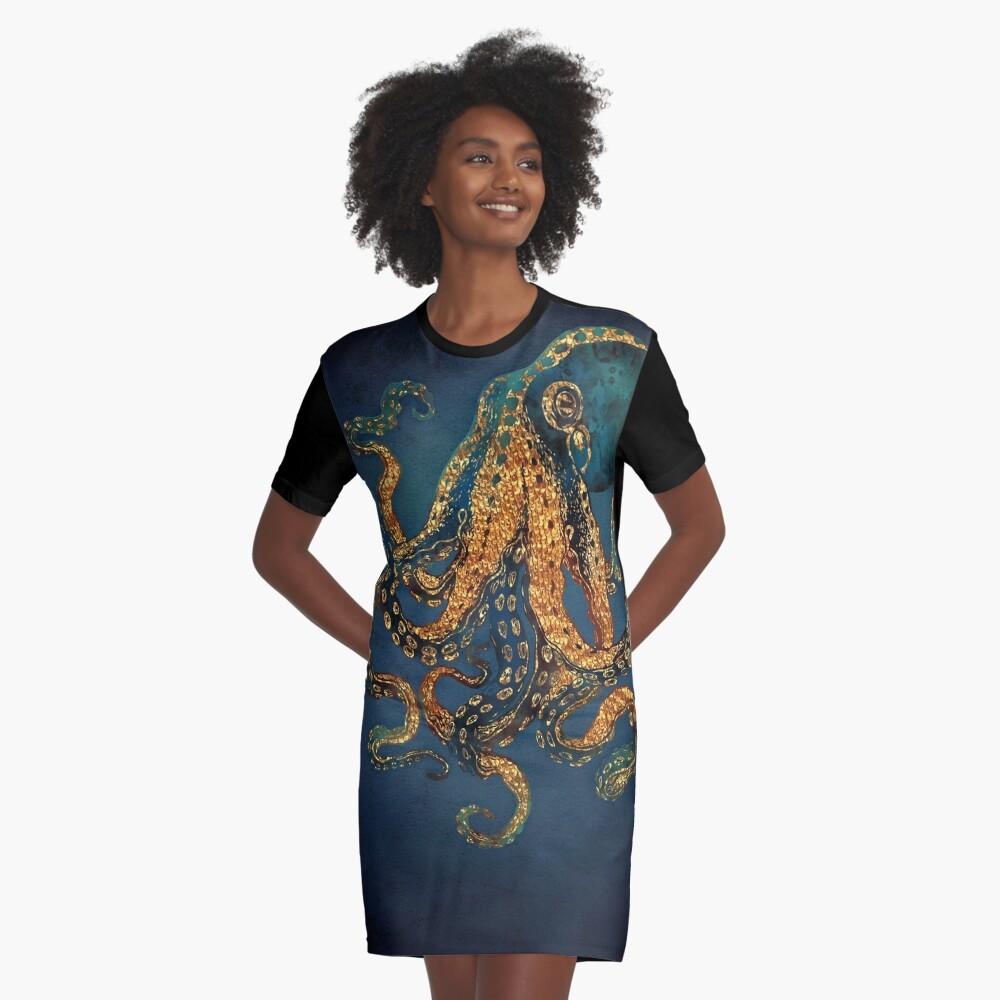 Underwater Dream IV Graphic T-Shirt Dress