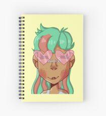 Heart sunglasses and watermelon hair Spiral Notebook