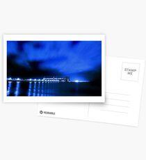 Kwinana Grain Jetty At Night  Postcards