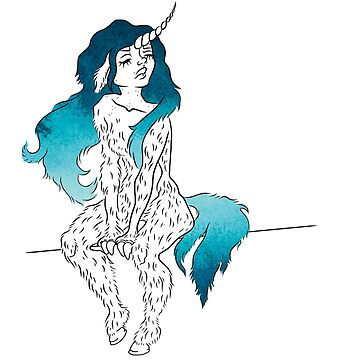 Unicorn girl with sea breeze hair by unicornisis