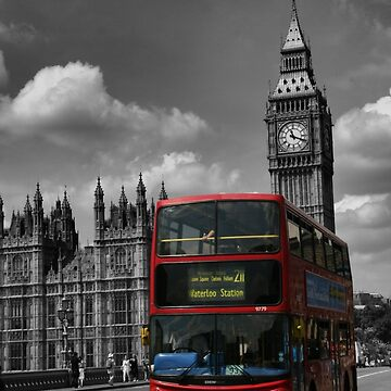 Double Decker at Big Ben, London, England by BlackDogCountry