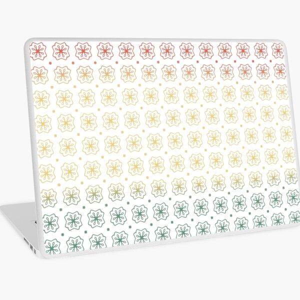 Flower Stamp Pattern Autumn Laptop Skin