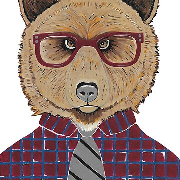 Mr Bear - Contemporary Animal Art by kathlesa