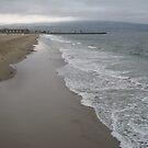The beach at dusk. by Gloria Abbey