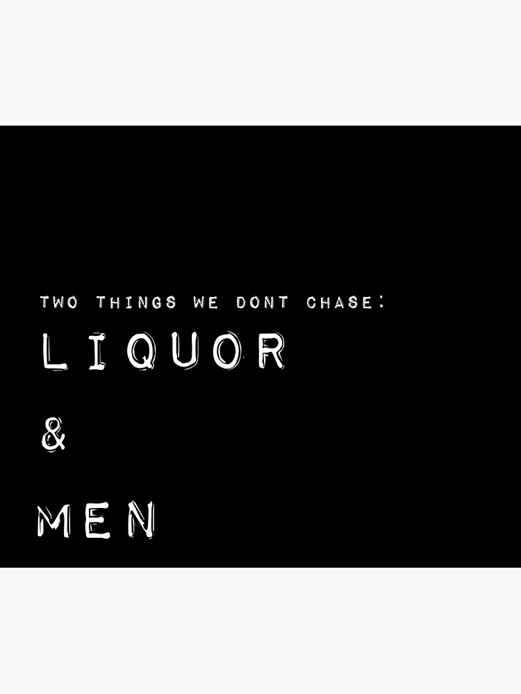 Liquor and Men Tapestry by livpaigedesigns