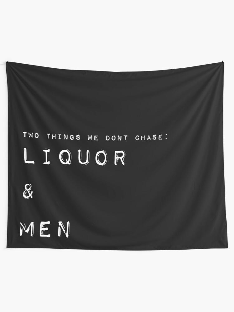 Alternate view of Liquor and Men Tapestry Tapestry