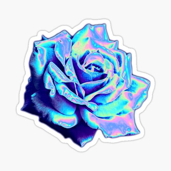 Rosa azul Pegatina