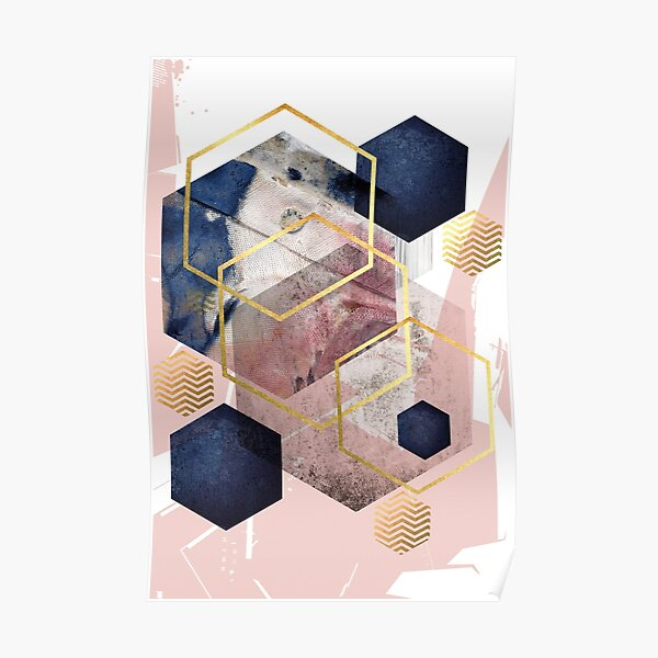 Abstract Geo Poster
