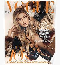 Gigi Hadid Vogue Cover Poster