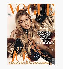 Gigi Hadid Vogue Cover Photographic Print