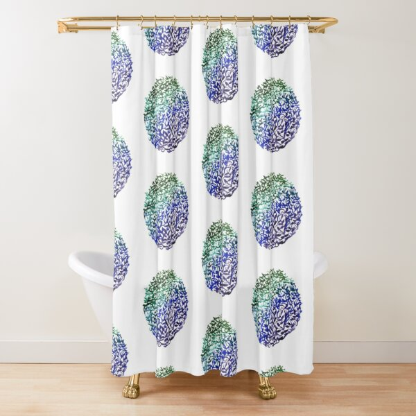 Botanical Medallion Shower Curtain
