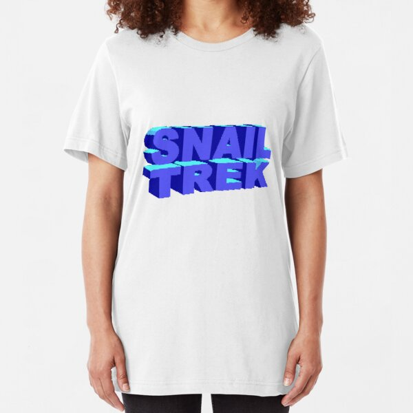 Snail Trek Blue Logo Slim Fit T-Shirt