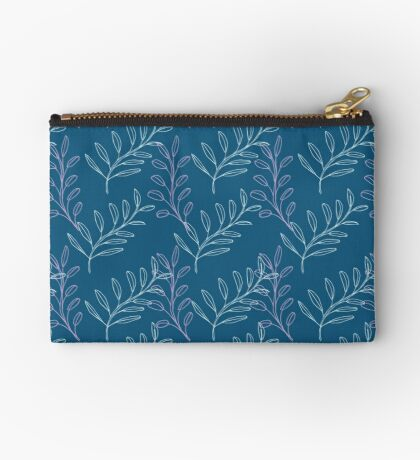 Homeland Flora Floating Leaves in Teal Studio Pouch