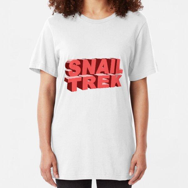 Snail Trek Red Logo Slim Fit T-Shirt