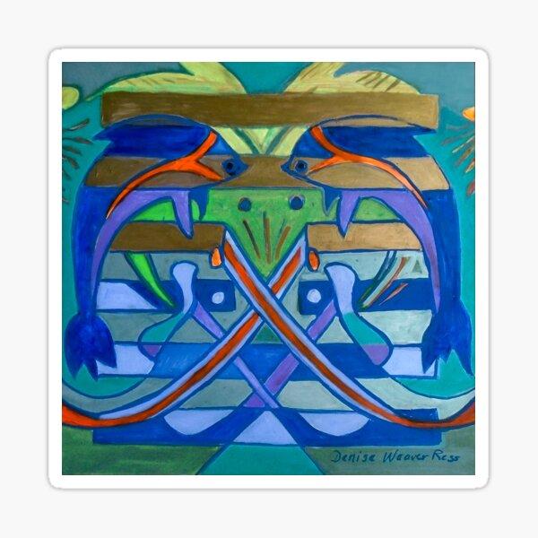 Hexagram 61: Zhōng Fú (Sincerity) Sticker