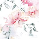 «Loose Watercolor Pink Florals» de hoganburleigh