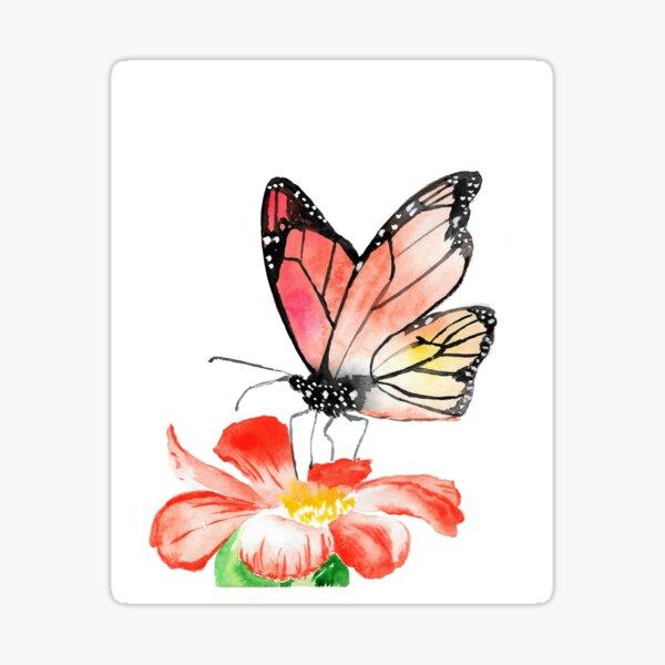 Watercolor Monarch - Butterfly Art Sticker