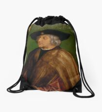 Portrait of Maximilian I by Albrecht Durer Drawstring Bag